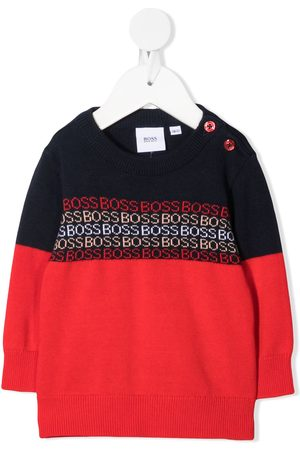 HUGO BOSS Two-tone logo strip jumper
