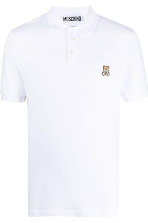 Moschino Teddy motif embroidered polo shirt
