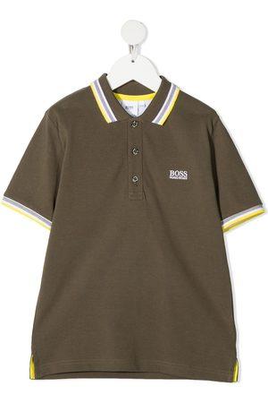 HUGO BOSS Striped detal polo shirt