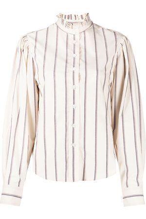 Isabel Marant Cotton ruffle-collar shirt - Neutrals