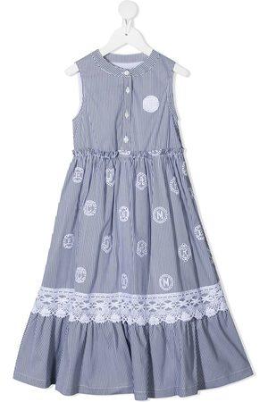 ERMANNO SCERVINO JUNIOR Striped cotton maxi dress