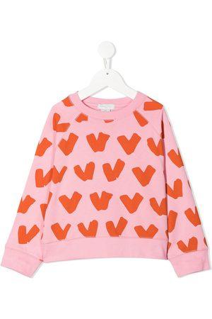 Stella McCartney Hearts cotton sweatshirt