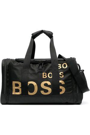 HUGO BOSS Metallic logo print sports bag