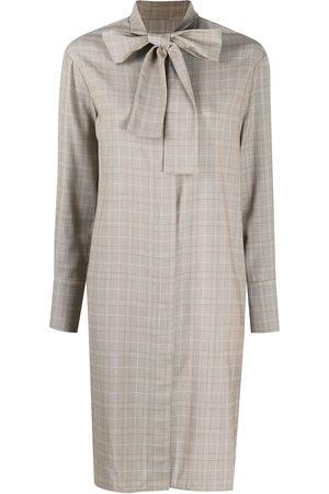 12 STOREEZ Checked shirt dress - Neutrals
