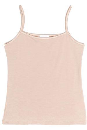 La Perla Satin-trimmed sleeveless top - Neutrals
