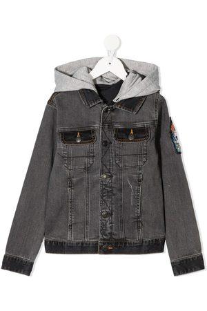 Zadig & Voltaire Hooded denim jacket - Grey