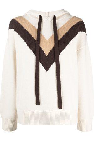 12 STOREEZ Cashmere-wool intarsia knit hoodie - Neutrals