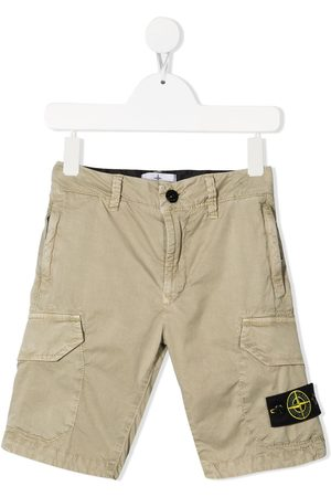Stone Island Logo-patch bermuda shorts - Neutrals
