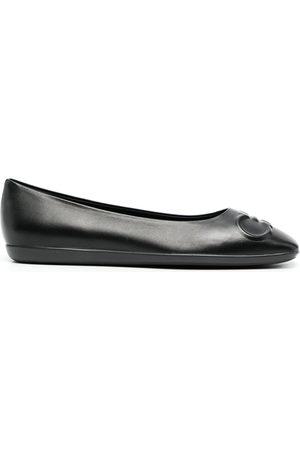 Salvatore Ferragamo Gancini-embossed ballerina shoes