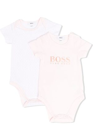 HUGO BOSS Set of two logo-printed bodies
