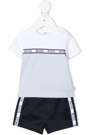 HUGO BOSS Logo-stripe track set