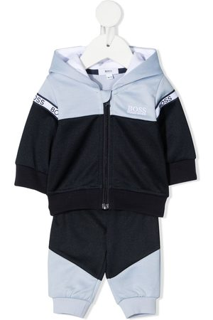 HUGO BOSS Logo print colour-block tracksuit