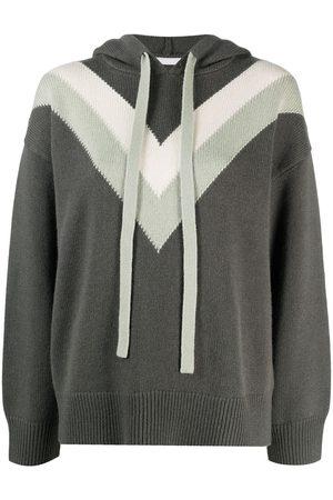 12 STOREEZ Chevron knitted hoodie