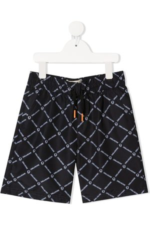 Zadig & Voltaire Checked logo print swim shorts