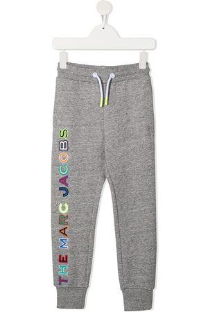 The Marc Jacobs Logo-print cotton track pants - Grey