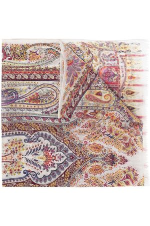 Etro Paisley-print silk scarf - Neutrals
