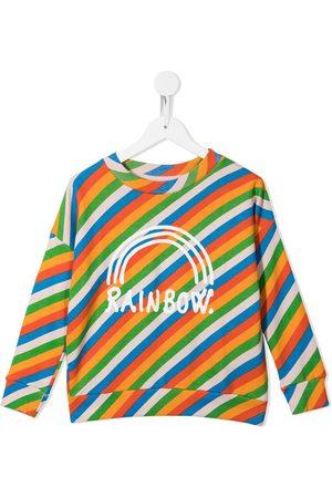 Molo Girls Hoodies - Diagonal stripe logo print sweatshirt - Multicolour