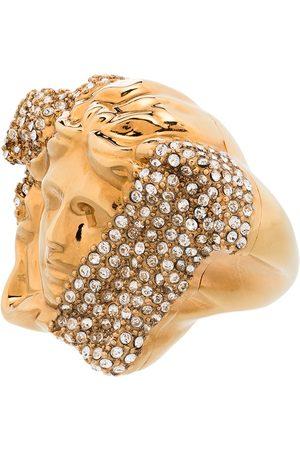VERSACE Women Rings - Tone palazzo dia crystal ring