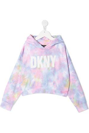 DKNY Tie-dye logo hoodie