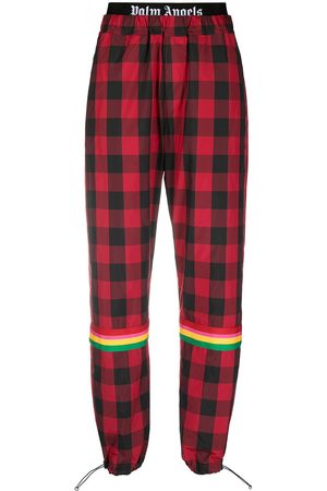 Palm Angels Women Sweatpants - Buffalo Aftersport check trousers