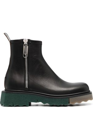 OFF-WHITE Men Ankle Boots - Panelled-sole ankle boots