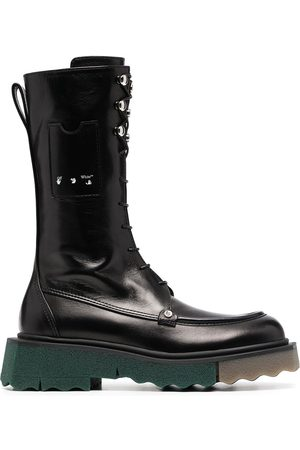OFF-WHITE Women Lace-up Boots - Sponge Combat lace-up boots