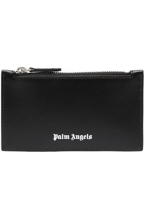 Palm Angels Men Wallets - Essential logo print cardholder