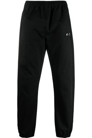 OFF-WHITE OW logo cuffed trousers