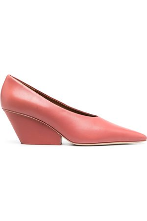 Camper Lab Pointed wedge heel pumps