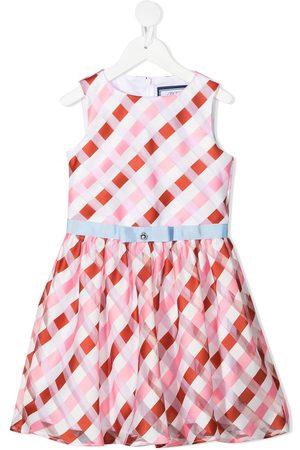 Simonetta Geometric-print sleeveless dress