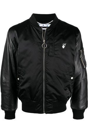 OFF-WHITE Hand Off logo bomber jacket
