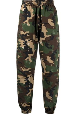 OFF-WHITE Camouflage-print logo track pants