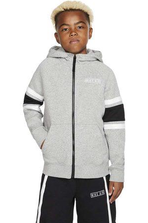 Nike Boys Hoodies - Air L Dark Grey Heather / Black / White / White
