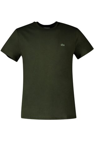 Lacoste Men Short Sleeve - Crew Neck Pima Short Sleeve T-shirt S Khaki