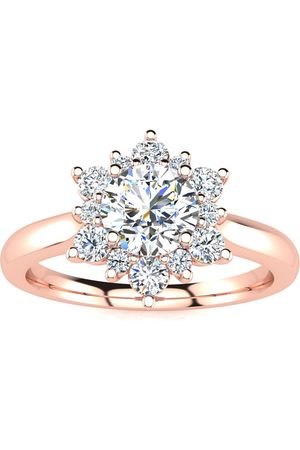 SuperJeweler Women Rings - 2 3/4 Carat Round Shape Halo Diamond Engagement Ring in 14K (5.30 g) (