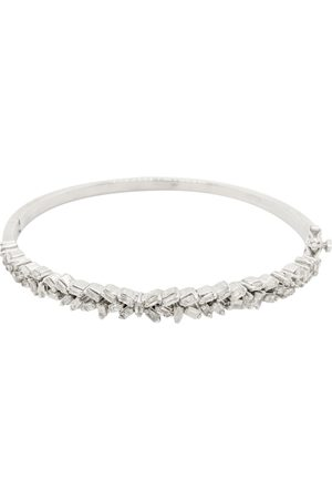 SuperJeweler Women Bracelets - 1 Baguette Diamond Bangle Bracelet in Sterling (