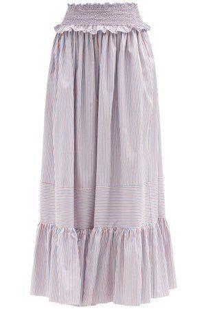 LORETTA CAPONI Amira Striped Cotton Maxi Skirt - Womens - Stripe