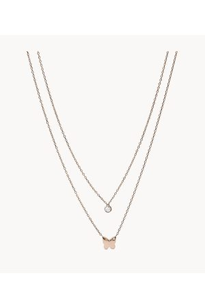 Fossil Women's -Tone Stainless Steel Convertible Necklace
