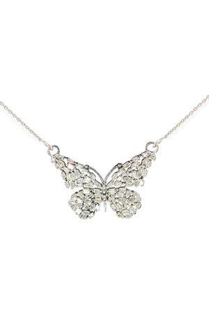 SuperJeweler 1 Carat Baguette Diamond Butterfly Necklace in Sterling