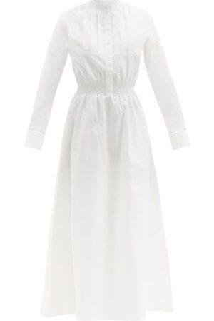LORETTA CAPONI Aurora Cotton-poplin Shirt Dress - Womens - Ivory