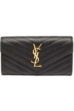 Saint Laurent Ysl-logo Quilted-leather Continental Wallet - Womens