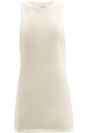 Raey Women Tank Tops - Racerback Wool-jersey Tank Top - Womens - Ivory