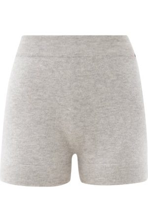 EXTREME CASHMERE Very Elasticated-waist Knitted Shorts - Womens - Grey