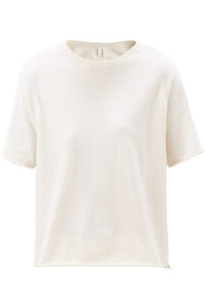 EXTREME CASHMERE Women T-shirts - Todd Rolled-hem Knitted T-shirt - Womens - Ivory