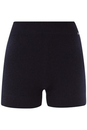 EXTREME CASHMERE Very Elasticated-waist Knitted Shorts - Womens - Navy