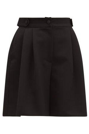 Dolce & Gabbana High-rise Tailored Wool-twill Shorts - Womens
