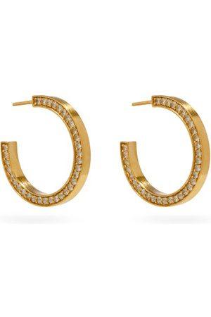 COMPLETEDWORKS Topaz & 14kt Gold-vermeil Hoop Earrings - Womens - Crystal