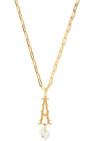 Simone Rocha Women Necklaces - Initial-pendant -plated Necklace (a-m) - Womens - Multi