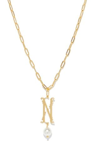 Simone Rocha Women Necklaces - Initial-pendant -plated Necklace (n-z) - Womens - Multi