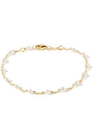 ROSA DE LA CRUZ Pearl & 18kt Gold Bracelet - Womens - Pearl
